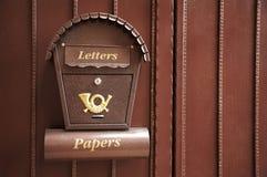 Boîte aux lettres neuve et belle Image libre de droits