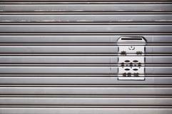Boîte aux lettres résidentielle marquée au poncif, Hong Kong Image stock