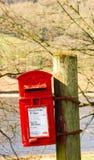 Boîte aux lettres rouge de Royal Mail Photos libres de droits