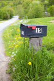 Boîte aux lettres rurale Images libres de droits