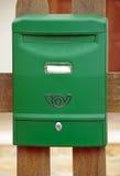 Boîte aux lettres verte Photo stock