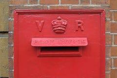 Boîte aux lettres victorienne photographie stock libre de droits