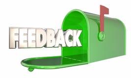 Boîte aux lettres Word de commentaires d'entrée de message de rétroaction Photo stock