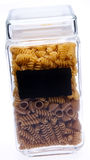 Boîte avec des pâtes Photographie stock libre de droits