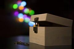 Boîte avec la magie Photos libres de droits