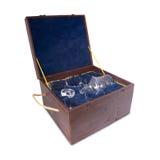 Boîte avec le verre Images stock