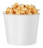 Boîte blanche à maïs éclaté Photographie stock