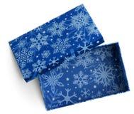 Boîte bleue de cadeau vide Photo stock