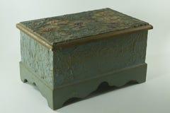 Boîte bleue en bois Photo stock