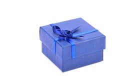 Boîte bleue pour de petits cadeaux Photographie stock