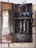 Boîte brûlée de fusible Photographie stock