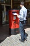 Boîte britannique de courrier au Gibraltar Images libres de droits