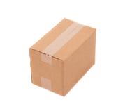 Boîte brune simple de carton Photographie stock libre de droits
