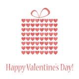 Boîte-cadeau abstrait pour la Saint-Valentin Photographie stock libre de droits