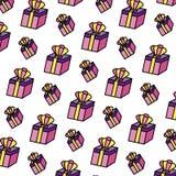 Boîte-cadeau actuel de couleur avec le fond accessoire de couronne illustration stock
