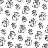 Boîte-cadeau actuel grunge avec le fond accessoire de couronne illustration stock