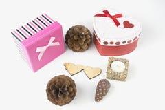 Boîte-cadeau, amour Photographie stock