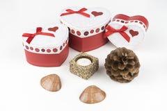 Boîte-cadeau, amour Photos stock