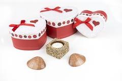 Boîte-cadeau, amour Photographie stock libre de droits