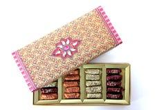 Boîte-cadeau assorti de sucrerie Image libre de droits