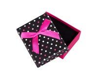 Boîte-cadeau avec l'arc d'isolement Image libre de droits