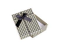 Boîte-cadeau avec l'arc d'isolement Photo libre de droits