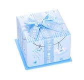 Boîte-cadeau avec l'arc d'isolement Images libres de droits