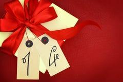 Boîte-cadeau avec le numéro 14 Photos libres de droits