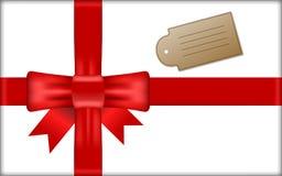 Boîte-cadeau avec le ruban rouge Image libre de droits