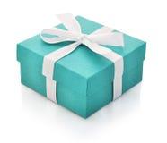 Boîte-cadeau bleu Photo libre de droits