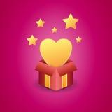 Boîte-cadeau d'amour Photographie stock libre de droits