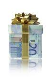 Boîte-cadeau d'argent Photographie stock