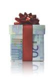 Boîte-cadeau d'argent Photo stock