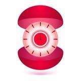 Boîte-cadeau d'horloge d'illustration Image stock