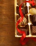 Boîte-cadeau de bonbons au chocolat Photographie stock