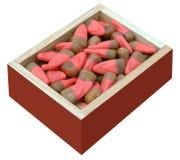 Boîte-cadeau de bonbons au maïs Images stock