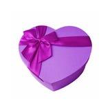 Boîte-cadeau de coeur Concept de jour de Valentines Photographie stock