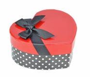 Boîte-cadeau de coeur d'amour Image stock