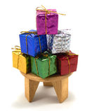 Boîte-cadeau de décoration sur la table photographie stock