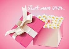 Boîte-cadeau de jour de mères Image libre de droits