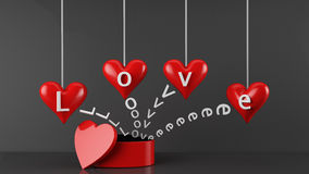 Boîte-cadeau de jour de Valentines Photo libre de droits