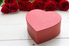 Boîte-cadeau de jour de valentines Image stock