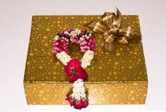 Boîte-cadeau de jour du ` s de Valentine images libres de droits