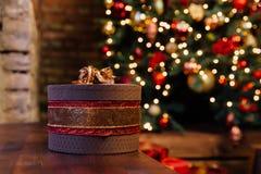 Boîte-cadeau de Noël Photos stock