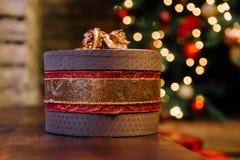 Boîte-cadeau de Noël Photo stock