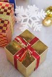 Boîte-cadeau de Noël Images stock