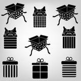 Boîte-cadeau de silhouette Images stock