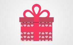 Boîte-cadeau de vecteur de jour de valentines Photographie stock libre de droits