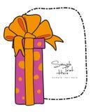 Boîte-cadeau enveloppé par rose Images libres de droits