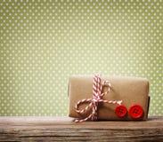 Boîte-cadeau fait main photo libre de droits